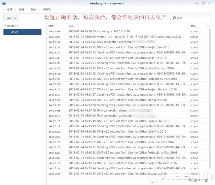 在docker上简易部署KMS服务器 NAS 第5张